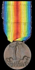 Italy: Interallied Victory Medal 1918. With makers marks for 'Sacchini, Milano'