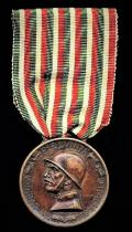 Italy: War Commemorative Medal 1915-1918. Type I. No clasp. With makers for 'Sacchini, Milano'