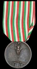 Italy: War Commemorative Medal 1915-1918. Type I. No clasp With makers marks for 'S. J. Johnson Milano'