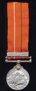India: Sainya Seva Medal with clasp in Hindi for 'Jammu & Kashmir'