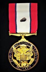 United States: Distinguished Service Medal (Army). With 1 x 'Bronze 'Oakleaf Cluster' for second award. Gilt and enamel