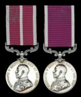 An 'Immediate' Meritorious & Long Service medal pair for 'India':  Acting Regimental Sergeant Major Robert Edgar Loftus, Middlesex Regiment, late Indian Unattached List, Mussoorie Rifles & Bangalore Rifle Volunteers