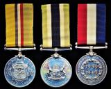 A rare 'Boer Gunner's' campaign & police medal group of 3:  First Class Constable W. J. Groenewald, Foot Police, Orange Free State Division, South African Police late Artillerist Staats Artillerie