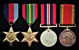 A rare South African 'War Against Japan' medal group of 4 to a 'Springbok': Able Seaman Russell Kenderdine Beardmore, South African Naval Force attached Royal Navy, late H.M.S Nigella