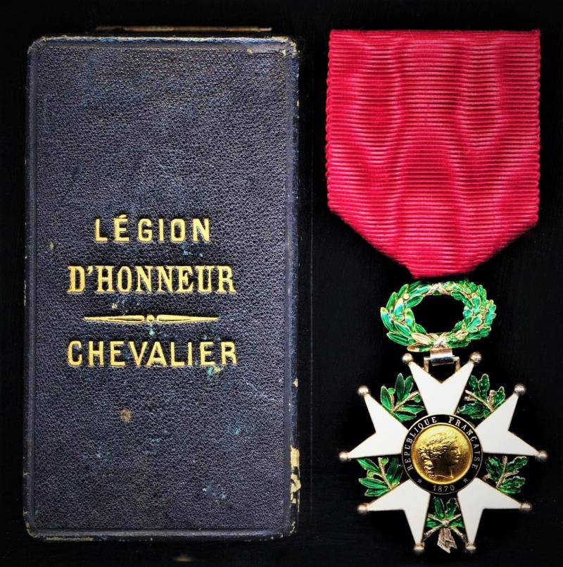 France: Legion of Honour (La Legion D'Honneur). 5th Class 'Chevalier' (Knight) breast badge in silver, gilt & enamel. An award of the 3rd Republic (circa 1870-1940). With '1870' obverse date